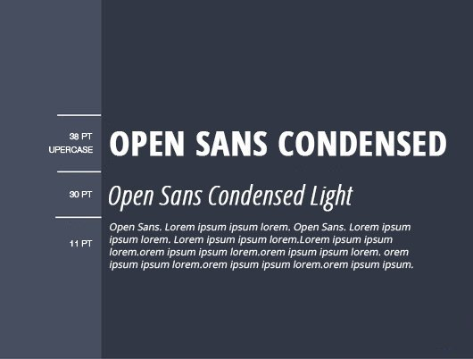 font chữ open sans condensed