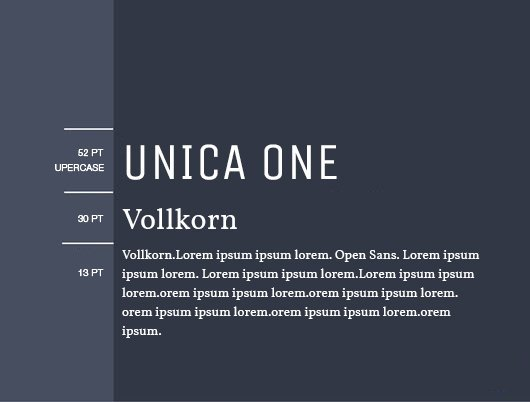 font chữ unica one- vollkorn